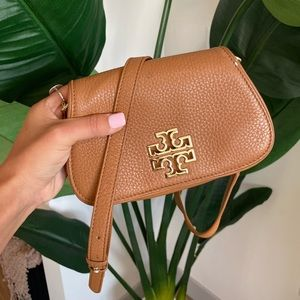 Tory Burch Brown Leather Crossbody Bag
